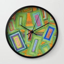 Vibrant Rectangles  Wall Clock