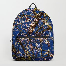 Japanese Apricot Tree Against The Dark Blue Background Backpack