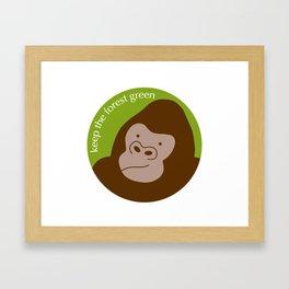 Keep the Forest Green Framed Art Print