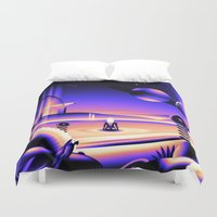 oasis Duvet Covers featuring Oasis by victormgraphics