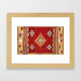 Çal  Antique Turkish Kilim Print Framed Art Print