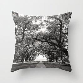 Oak Allee Throw Pillow