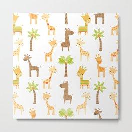 Giraffes Metal Print