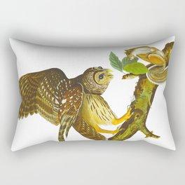 Barred Owl Illustration Rectangular Pillow