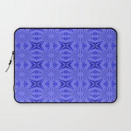Blue Floral Pattern Laptop Sleeve