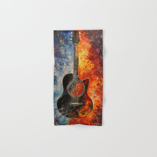 The rhythms of the guitar Hand & Bath Towel