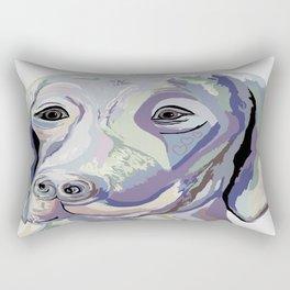 Weimaraner Denim Colors Rectangular Pillow