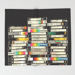 VHS Stack Throw Blanket