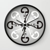 the who Wall Clocks featuring Who by Matiyas