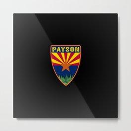 Payson Arizona Shield Metal Print