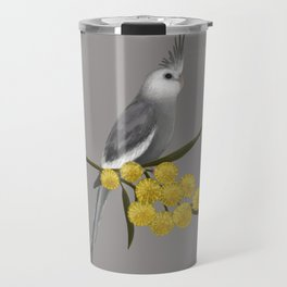 White Faced Cockatiel Travel Mug