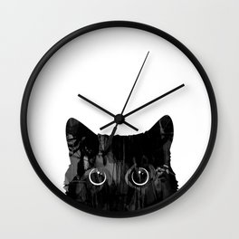 Patient Cat Wall Clock