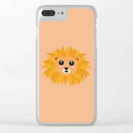 Kawaii lion head T-Shirt for all Ages D9dq4 Clear iPhone Case