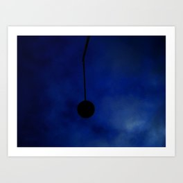 Broken Lamp Post on a cold winter night Art Print