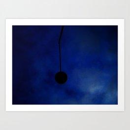 Broken Lamp Post on a cold winter night Art Print