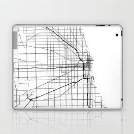 Minimal City Maps - Map Of Chicago, Illinois, United States Laptop & iPad Skin