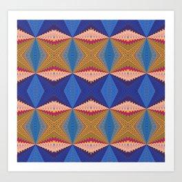 African Retro Geometric Bliss Print 1 Art Print