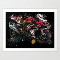 motorcycle Art Prints featuring Motorcycle by ron ashkenazi