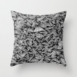 Line after Line Throw Pillow
