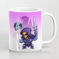 skeletor Mugs featuring Little Skeletor by Rico Marcano
