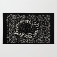 letters Area & Throw Rugs featuring Letters  by Enver Yigit