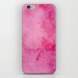 Pink marble watercolor texture iPhone Skin