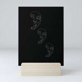 Shocked face Mini Art Print