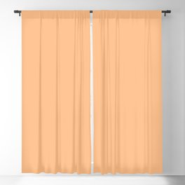 From The Crayon Box – Macaroni and Cheese Pastel Orange Solid Color Blackout Curtain