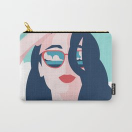 Vibrant Summer Woman Carry-All Pouch