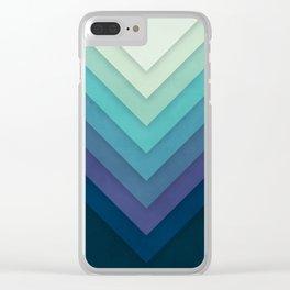 Retro Chevrons 001 Clear iPhone Case