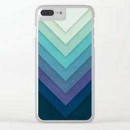 Retro Chevrons 001 Clear iPhone Case