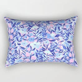 Nonchalant Blue Rectangular Pillow