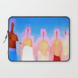 five naked men with bath towels Laptop Sleeve