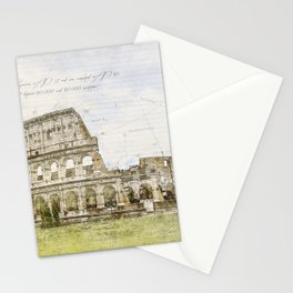 Colosseum, Rome Italy Stationery Cards