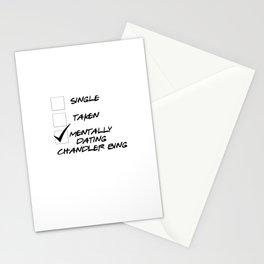 Mentally Dating Chandler Bing Stationery Cards