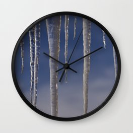 Ice in the air Wall Clock
