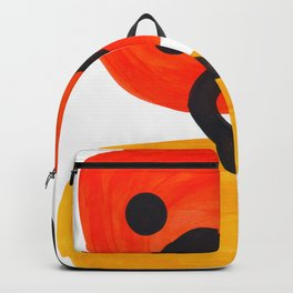 Midcentury Modern Colorful Abstract Pop Art Space Age Fun Bright Orange Yellow Colors Minimalist Backpack