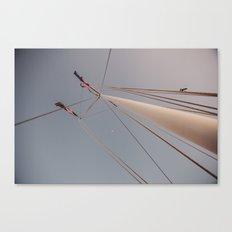 Mast and Moon Canvas Print