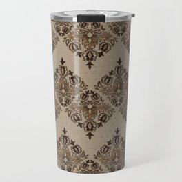 Persian Oriental pattern pastel gold Travel Mug