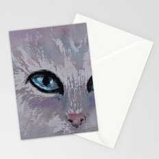 CAT EYES FOLLOW YOU Stationery Cards