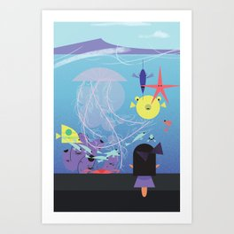 Honolulu Aquarium Poster Art Print
