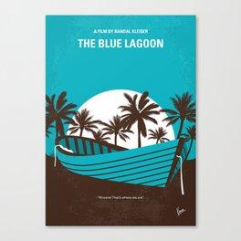 No871 My The Blue Lagoon minimal movie poster Canvas Print