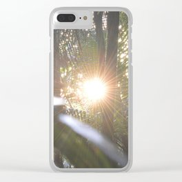 Sunset in the cloud forest  - near Tradewinds Trail - El Yunque rainforest PR Clear iPhone Case