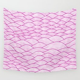 Pink wave pattern Wall Tapestry