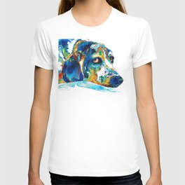 Colorful Beagle Dog Art By Sharon Cummings T-shirt