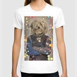 Shaggy Mixed-breed dog I - Pop version T-shirt