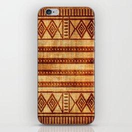 Embossed African Pattern iPhone Skin