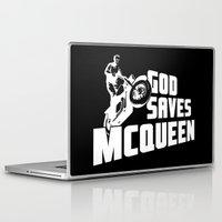steve mcqueen Laptop & iPad Skins featuring God saves McQueen by dutyfreak