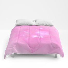Folds In Pink Comforters