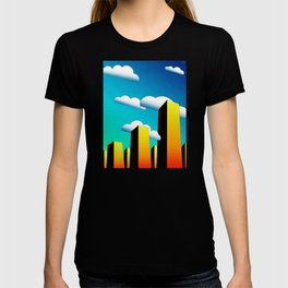 Tall Buildings And Low Clouds T-shirt